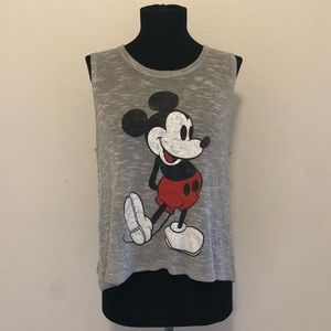 Disney Mickey Mouse Gray Tank Size S